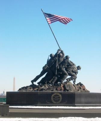 Iwo Jima Memorial in Arlington Virginia