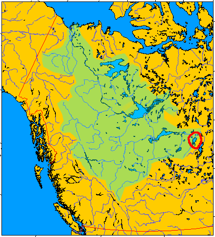 Wollaston Lake within the Mackenzie River Drainage Basin