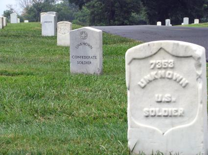 Graves of Unknown Confederate and Union Soldiers