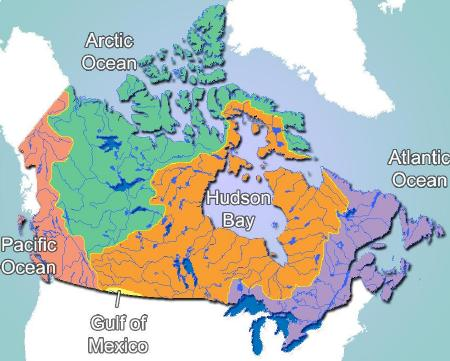 Canadian Drainage Basins and Watersheds