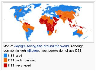 Daylight Saving Time Worldwide