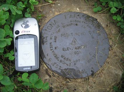 Washington Highpoint Geological Survey Benchmark