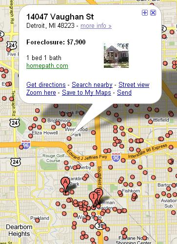 Forecloses Homes in Detroit
