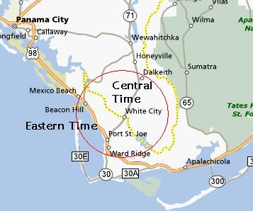 USA Time Zone Anomalies Part II Twelve Mile Circle Maps - Map of eastern florida