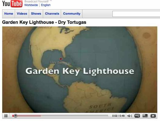 Dry Tortugas map from video clip