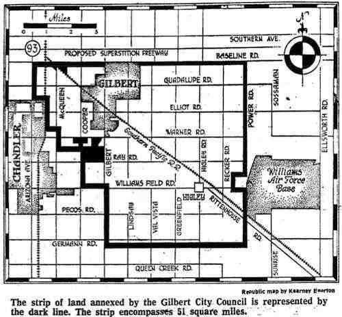 1975 Strip Annexation in Gilbert Arizona