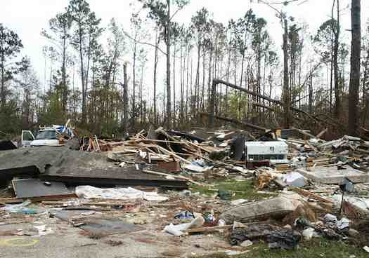 Home Destroyed by Katrina