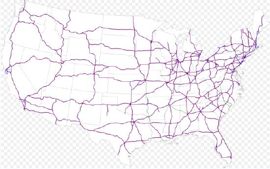 Interstate Highway Numbers In The United States Twelve Mile - Us interstate map states