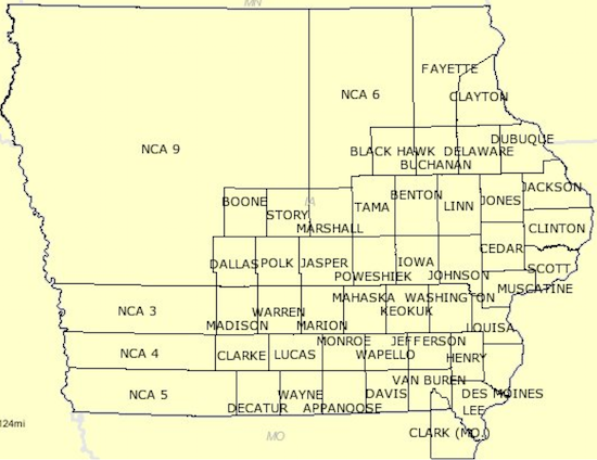 Iowa Counties in 1846