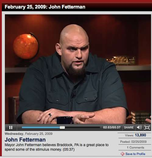 John Fetterman Mayor of Braddock