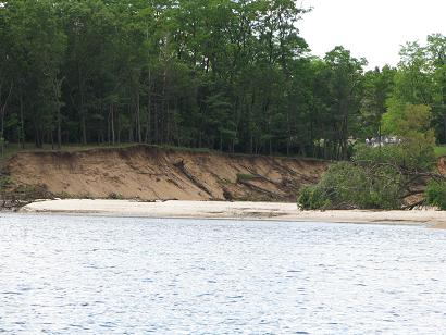 The Breach through which Lake Delton Drained