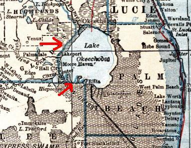 Lake Okeechobee in 1921