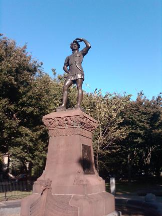 Leif Ericson Statue on Commonwealth Ave. in Boston