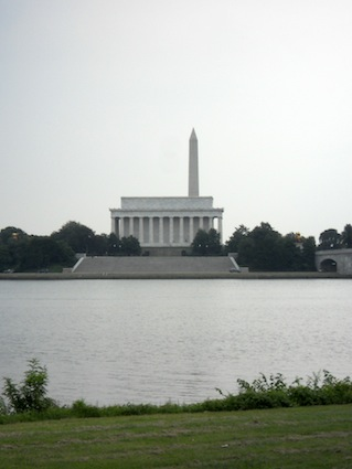 Lincoln Memorial and Washington Monument from the Potomac
