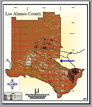 Los Alamos County Map
