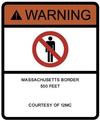Warning Massachusetts 500 Feet