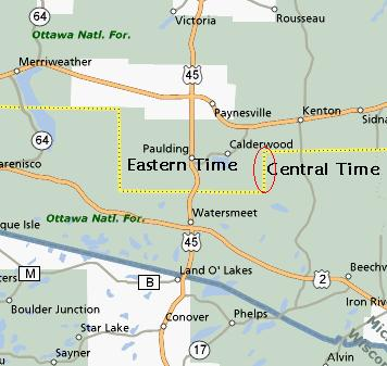 USA Time Zone Anomalies Part II Twelve Mile Circle - Time change map usa