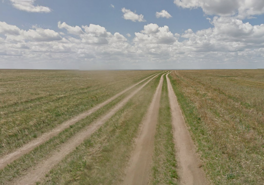 Dirt Road in Mongolia