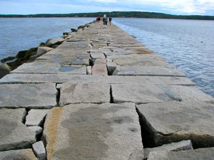 One Stone Traverses the Rockland Breakwater