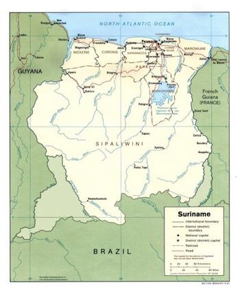 detailed map of suriname. Likewise, Suriname believes