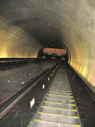 Metro Subway at the Tenleytown-AU Station