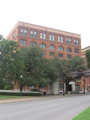 Texas School Book Depository from Dealey Plaza