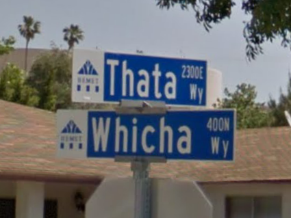 Corner of Whicha Way and Thata Way in Hemet California
