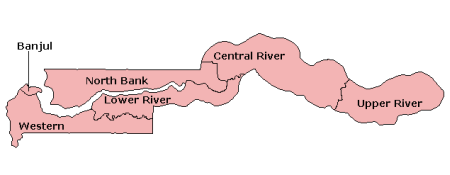 Divisions of The Gambia