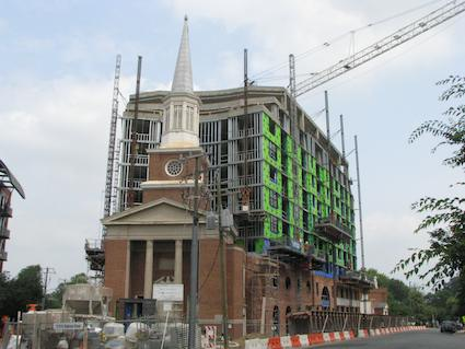 View of Clarendon Under Construction