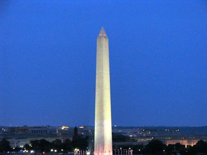 The Washington Monument as Nighttime Approaches