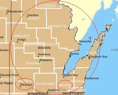 Brown County Wisconsin in 1848
