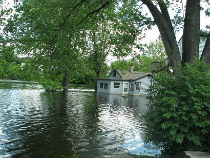 Flooded Home on Crawfish River