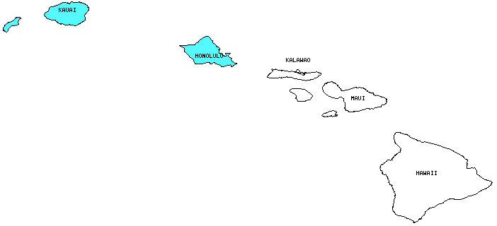 Hawaii County Outline Map