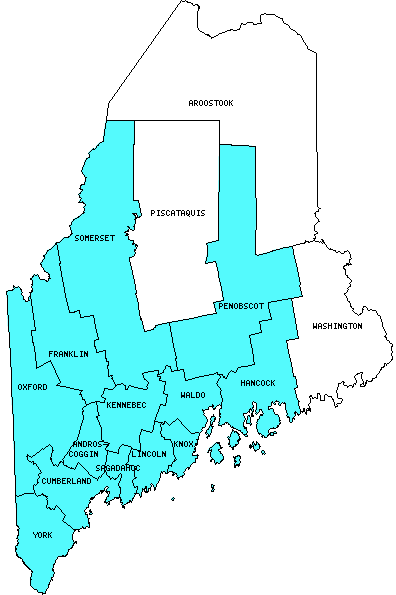 Maine Counties Visited With Map Highpoint Capitol And Facts - Maine counties map