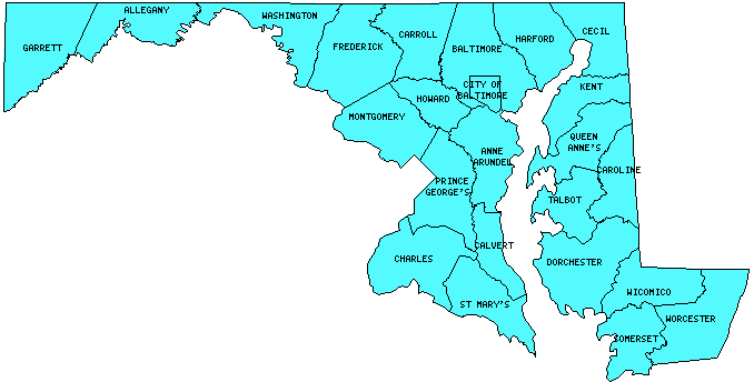 Maryland Counties Visited With Map Highpoint Capitol And Facts - Maryland county map