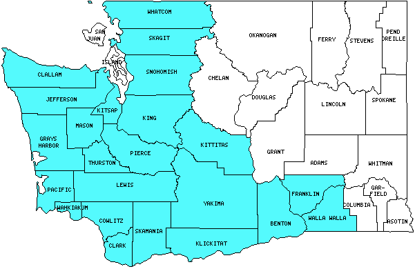 Washington Counties Visited With Map Highpoint Capitol And Facts - Washington counties map