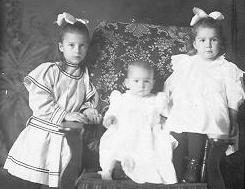 Infant John McGaughy Jr, and his two sisters