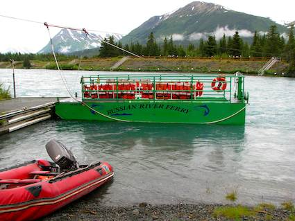 Boat on the Kenai River