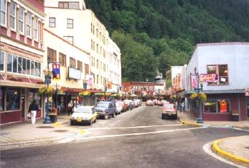 Juneau Alaska Downtown Sites with map