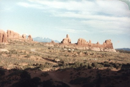 Scenery at Arches National Park