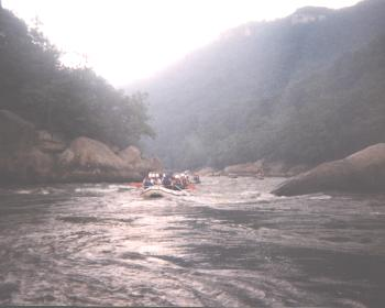 Narrow Rafting Channel