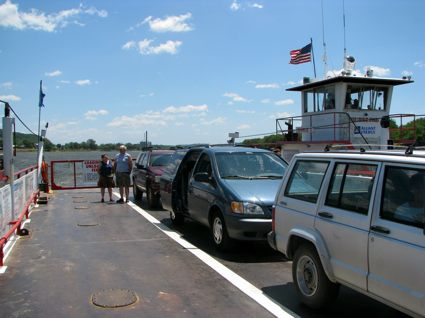 Cars Loaded on the Ferry Deck