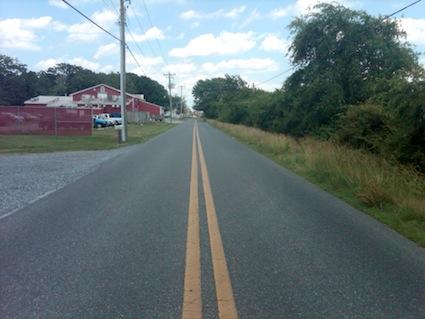 Straddling Delaware Maryland Line