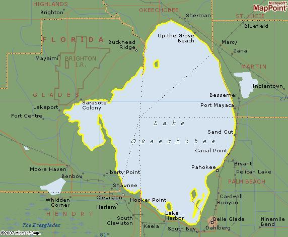 Lake Okeechobee S Five Counties Twelve Mile Circle