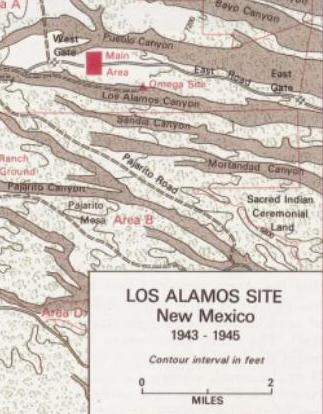 Los Alamos in 1943-1945 with Sandoval Exclave