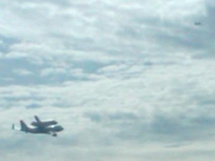 Space Shuttle Endeavour Flyover-Sacramento California ... |Space Shuttle Flyover