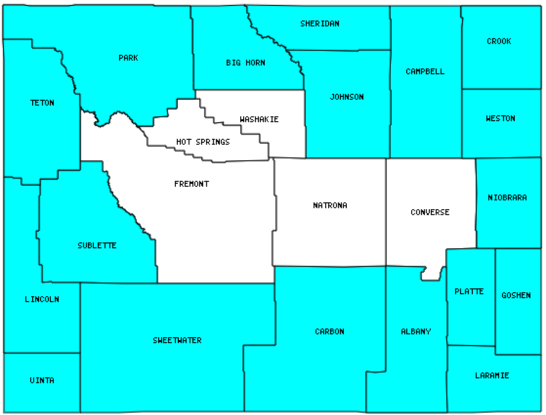 wyoming map with counties Wyoming Counties Visited With Map Highpoint Capitol And Facts wyoming map with counties